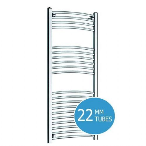 Kartell Curved Thermostatic Electric Towel Rail - 500mm x 1200mm Chrome